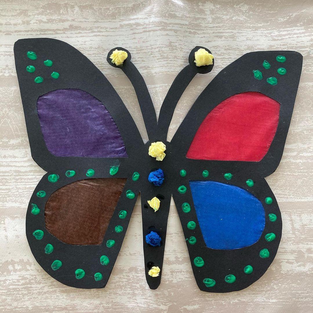 An.creatief: Melissa heeft deze vrolijke vlinder geknutseld
