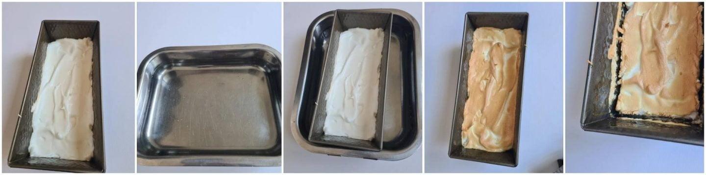 Molotof: Zet de cake bakvorm in de ovenschaal met water en vervolgens in de oven voor 10 minuten.