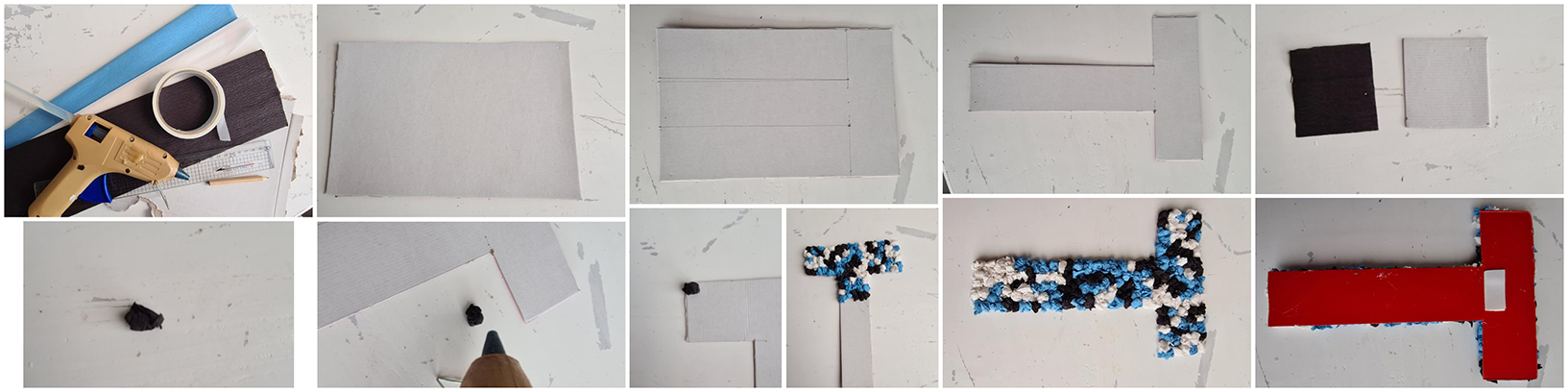 Begin met een geweest letter op de karton te tekenen.