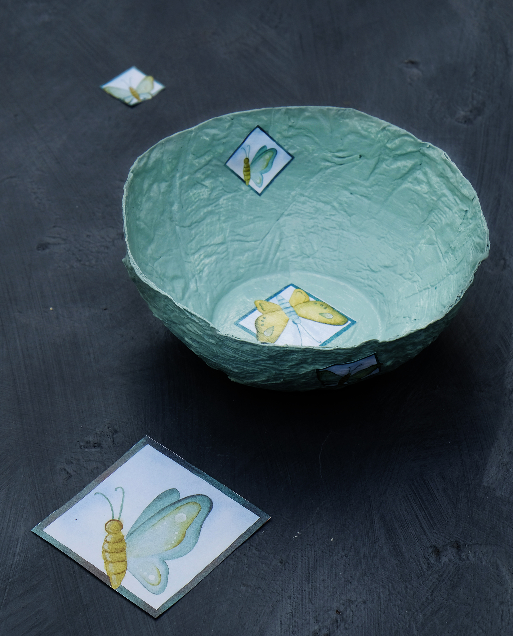Papier Mâché decoratie schaaltjes maken