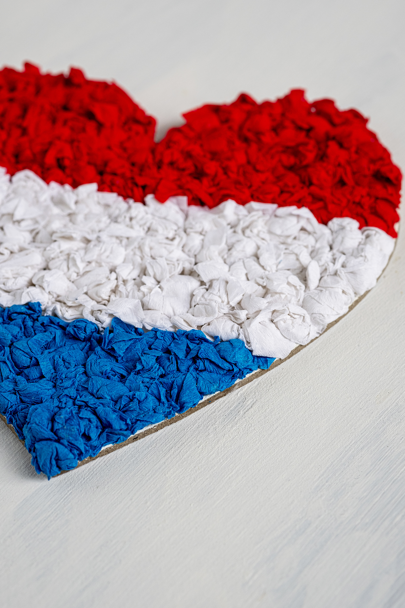 Nederlandse hart vlag knutsel voor koningsdag of Oranje