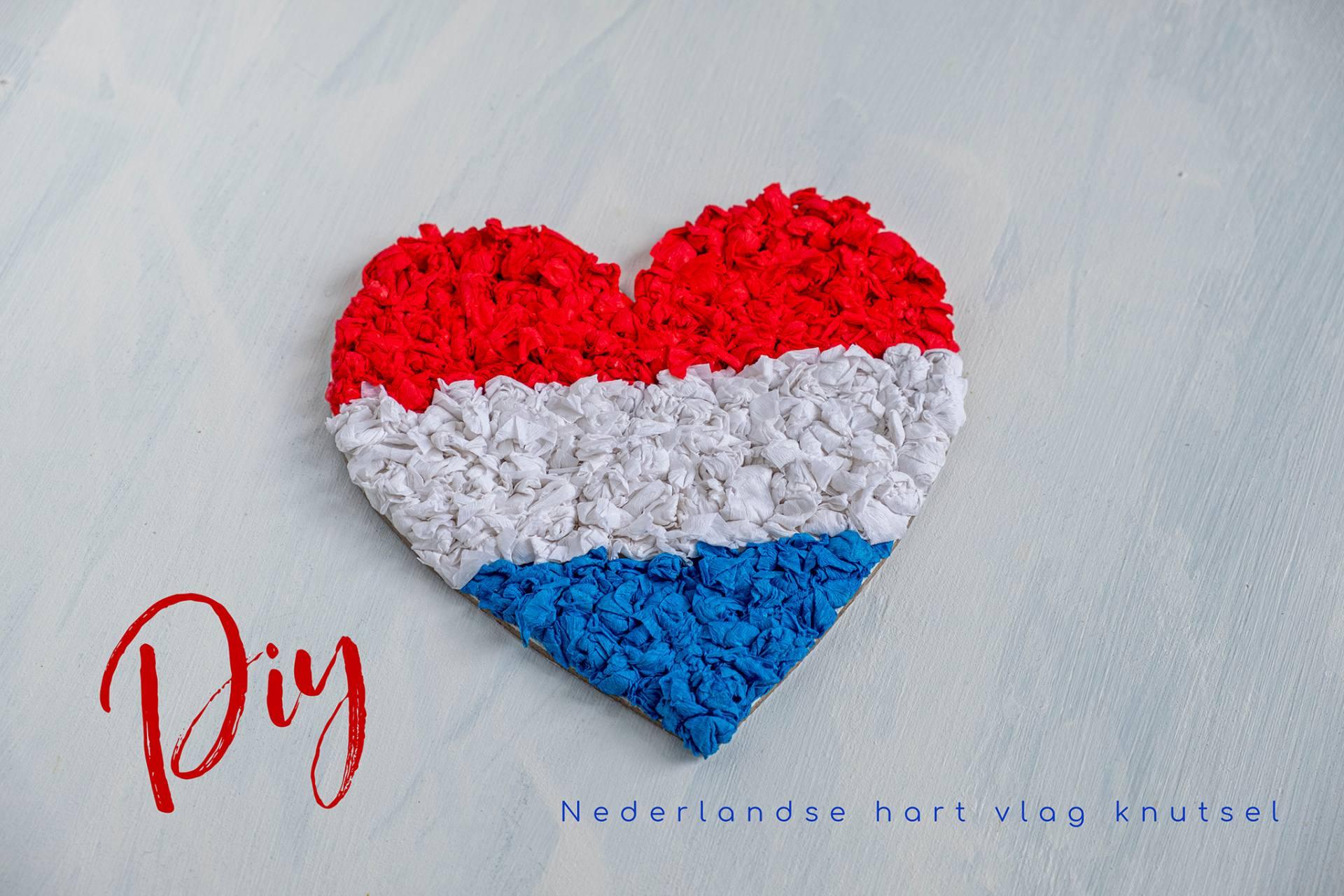 Diy: Nederlandse hart vlag