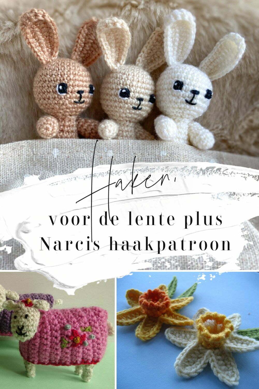 Haken voor de lente plus Narcis haakpatroon