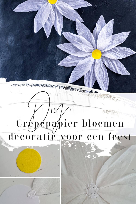 Diy: Crêpepapier bloemen