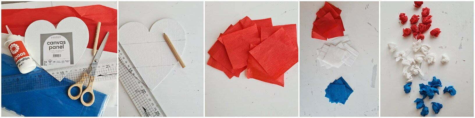 Teken de vakjes met behulp van een potlood en liniaal.