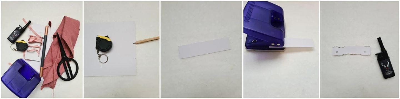 Voorzichtig brand je een beetje met een aansteker (of lucifers) om het hele stukje papier heen.