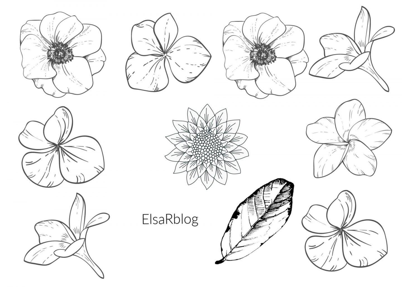 A4 Waterverf bloemetjes Elsarblog