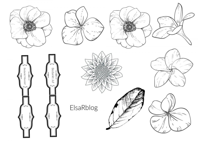 A4 Waterverf bloemetjes maken Elsarblog