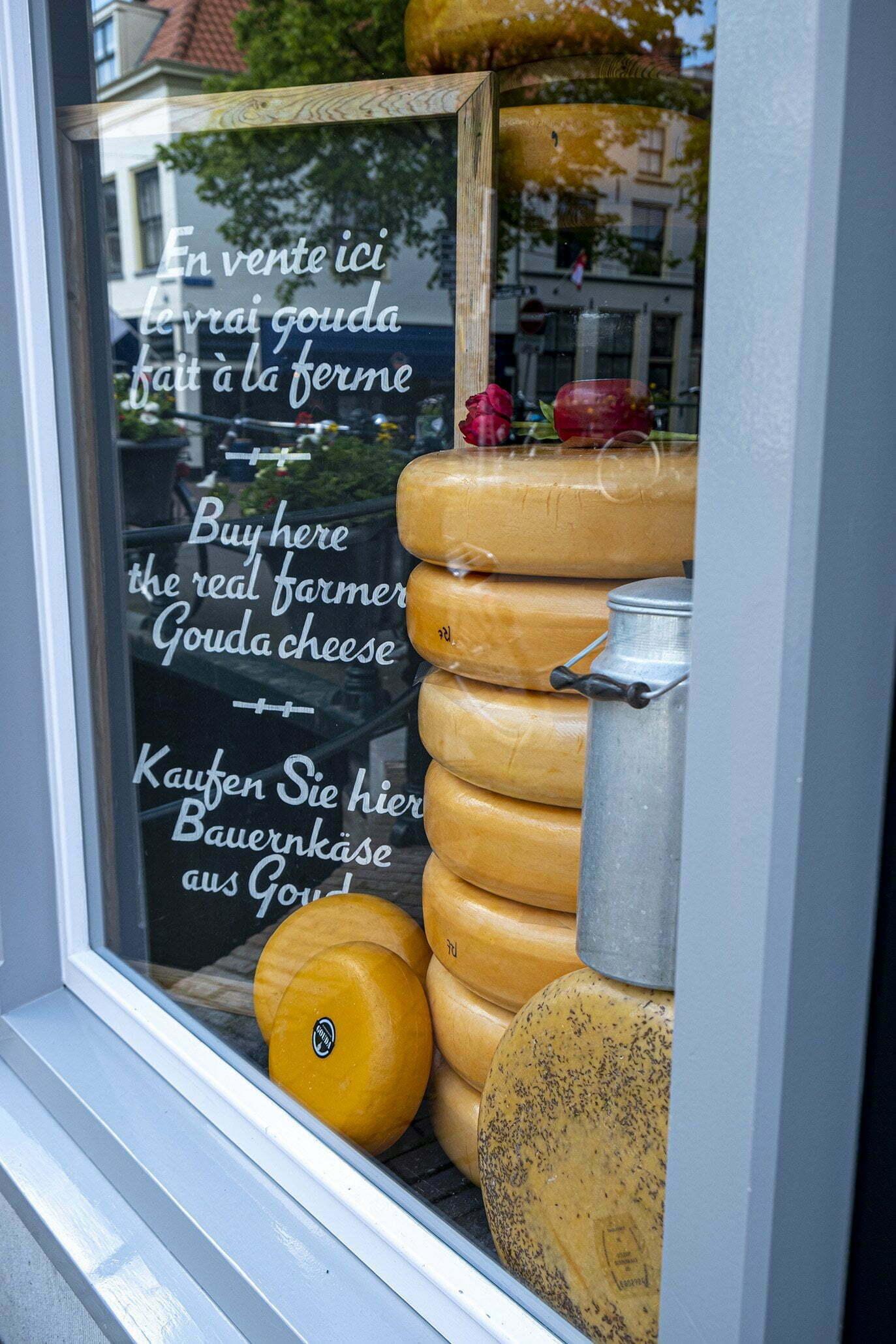 Goudse kaas is de meest bekende kaas en de meest gegeten kaas in Nederland.