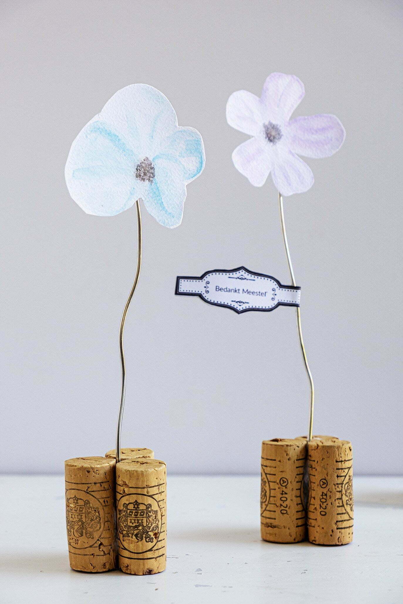 Diy; Waterverf bloementjes maken om te geven