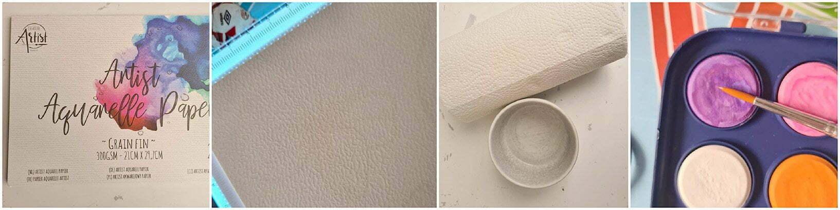 Maak de kwast nat met water enwrijfde kwast op de gewenstekleur.