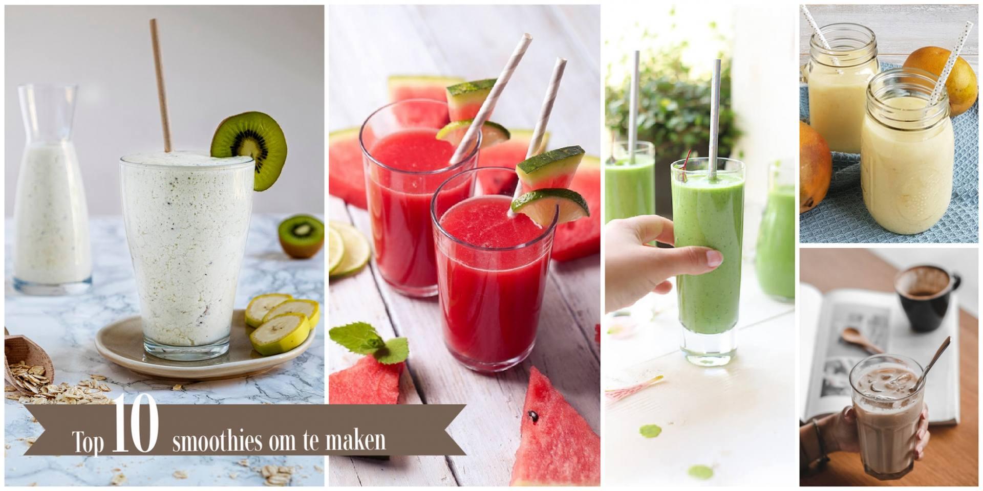 10 smoothies om te maken en te genieten