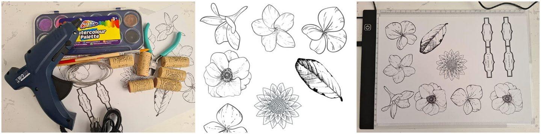 Sla op en print (met kopieerpapier) de A4 Waterverf bloemetjes maken Elsarblog.