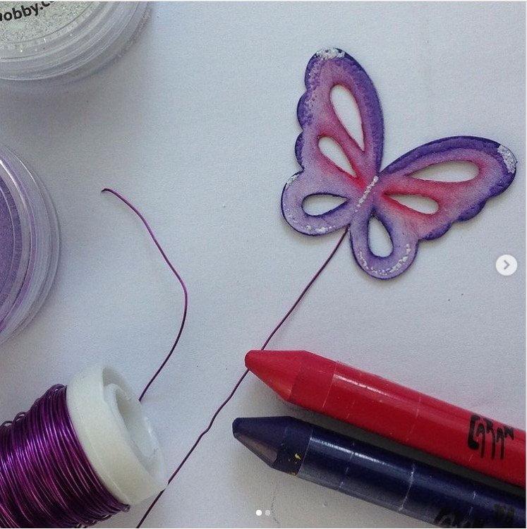 Creaaas: Vlinder op een draadje