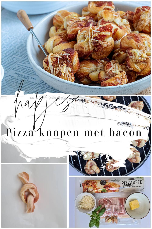 Pizza knopen met bacon en knoflook