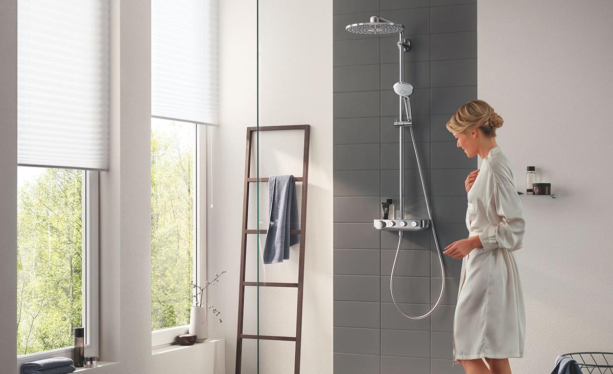 Badkamer metamorfose met een regendouche