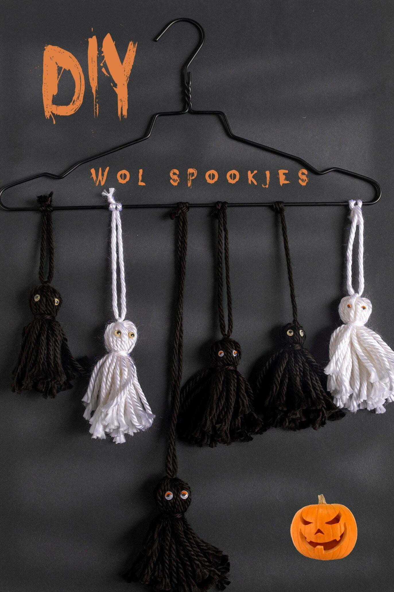 Diy: wol spookjes maken voor Halloween